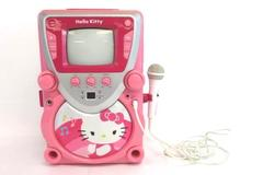 Hello Kitty Super CD Karaoke with Screen Microphone MP3 AUX Sanrio 2013