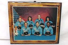 NASA Space Shuttle Challenger Final Crew Photo Decoupage On Wood