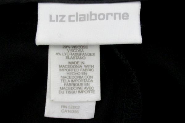 Liz Claiborne Women's Anissa Black Straight Leg Mid/High Rise Slacks Pants Sz 4