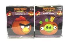 2 Sets Angry Birds Halloween Pumpkin Push-Ins Red Bird Set & Green Pig Set