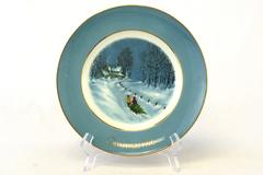 AVON 1976 Bringing Home The Tree 3 Edition Christmas Plate Enoch Wedgwood W/Box