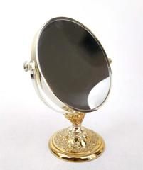 Vtg TOWLE Silversmiths Japan Baroque Floral Silver Plate Magnifying Mirror