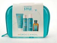 MOROCCANOIL Teal Travel Set w/ Bag Destination: Style 4pc Treatment NEW