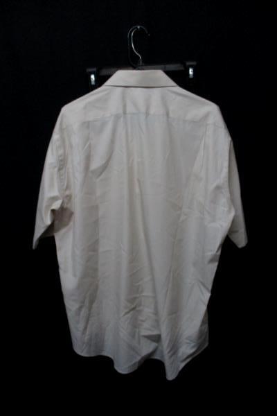 Vintage Windridge Mervyns Beige Short Sleeve Button Front Shirt Mens Size 17