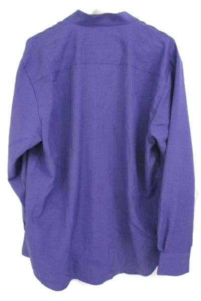 Edwards Garment Mens Batiste Purple Grape Casino Shirt Size L 1395-504