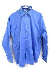 Edwards Garment Long Sleeve Dress Polyester Blue Polo Shirt Mens L 1978-061