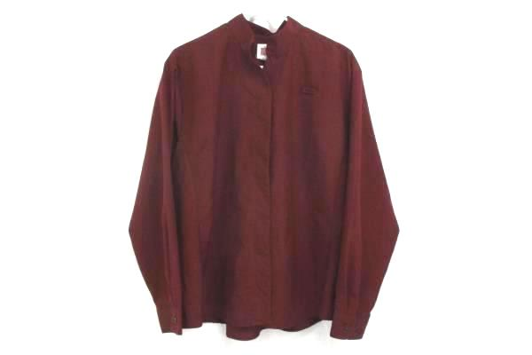 A+ by SAI Wine Colored Tunic Hospitality Shirt Long Sleeve 8210 Womens XL