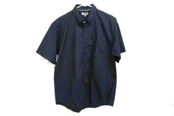 Short Sleeve Shirt Navy Mens Large Edwards Garment 1245-007 Poplin