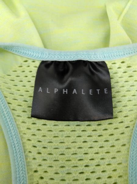 ALPHALETE  Green / Blue Racerback Performance Vented Tank Top Women's MEDIUM