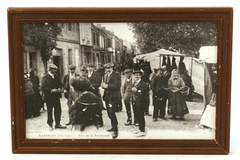 Vintage French Black & White Photo Auterive Rue De La Promenade Victorian Decor