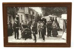 Vintage French Black & White Photo Auterive Rue De La Promenade Victorian Decor