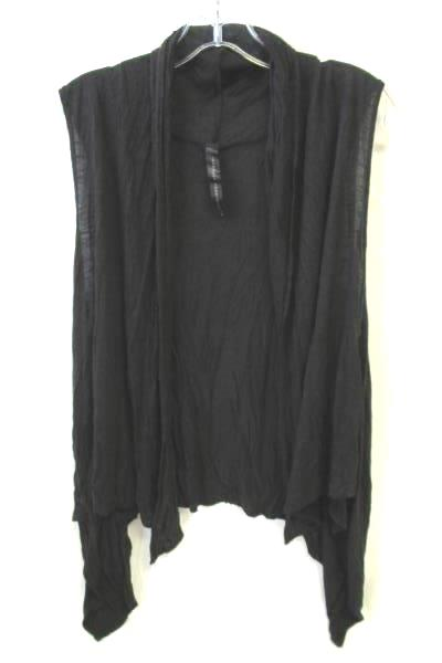 Woman's Black Light Weight See Through Cardigan Vest By Isabella Rodriguez SZ M