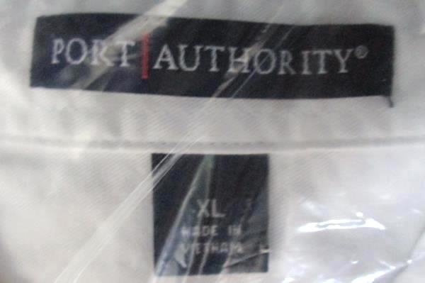Port Authority White Button Front Embroidered Sonoma Historic 2012 Logo XL