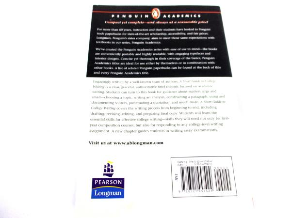 A Short Guide to College Writing 3rd Edition Penguin Academics
