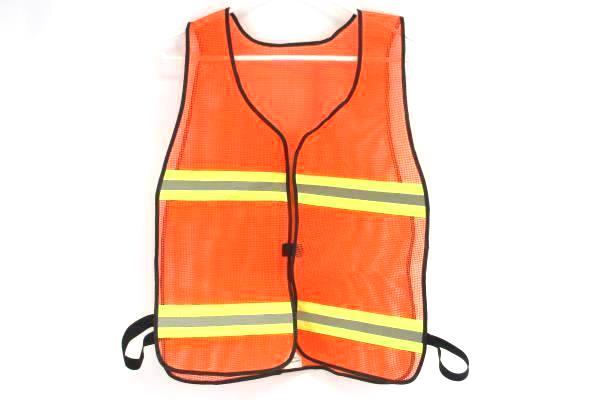 Orange Mesh Reflective Safety Vest Protective Gear Adult Size XL Safety Flag Co.