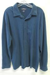 Button Up Shirt Great Northwest Navy Blue 95% Cotton 5% Spandex Unisex Size XL