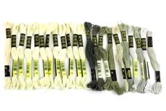 Lot Of 22 Skeins DMC 25 Embroidery Floss Thread Cotton 8m White Gray