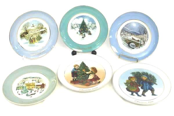 Lot of 6 Avon Christmas Plates By Enoch Wedgwood 1977 - 1982 w/ Boxes