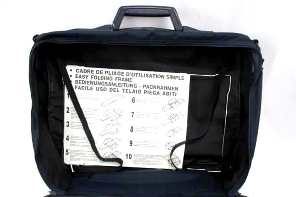 """Navy Luggage Blue Delsey 16"""" Underseat Soft-Side Suitcase"""
