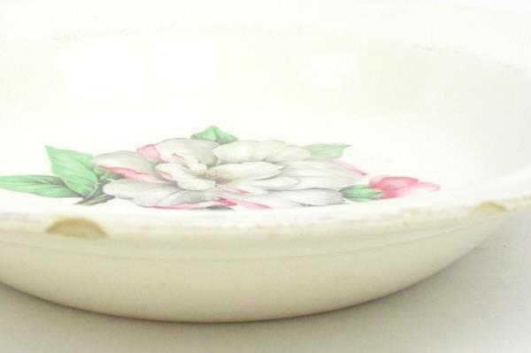 Lot Of 3 Bowls  Cunningham & Pickett, Inc. 22 KT. Gold Hand Decorated Magnolia