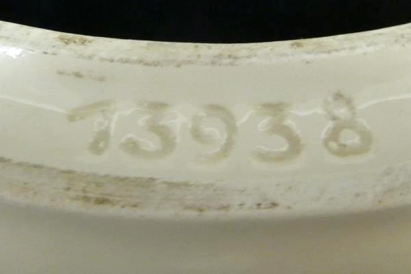 "10"" Erphila Ring Czechoslovakia Table Center Piece Pottery Sticker Stamp"