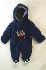 Infant Boy's One Piece Cars Hooded Winter Footie By Disney 0-3M