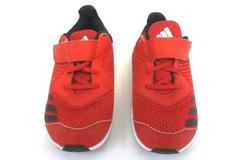 Adidas Red Black Tie Hook and Loop Shoes LVL 029002 Kid's Size 8