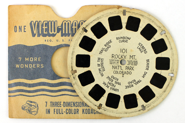 1940's View Master Reel #101 Rocky Mountain Nat'l Park Colorado Hand Lettered