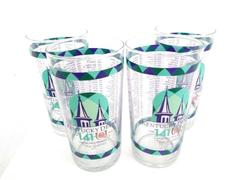 Lot of 4: Kentucky Derby 2015 Souvenir Collectors Mint Julip Glasses Mint & Blue