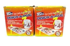 Lot of 2 Darice Kid's Crafts Design-A-Mug Kits #2406-20