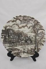 """Royal Mail"" Fine Staffordshire Ironstone 10"" Dinner Plate England Horse Coach"