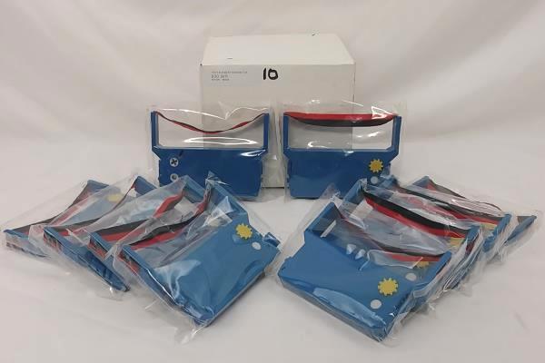 Lot of 9 Cash Register Ribbon Cartridges 900 B/R Nylon 6U/BX Black/Red