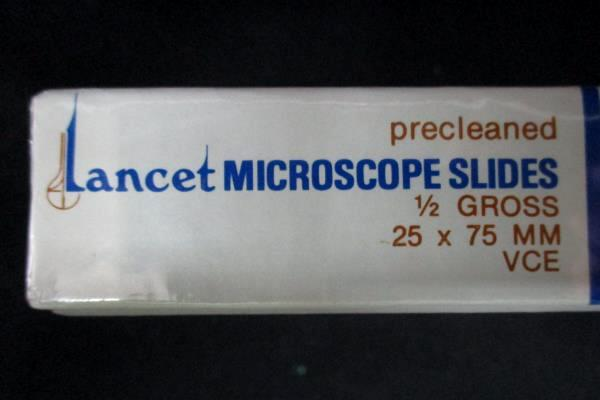 4 Boxes Of Lancet Medical Industries Microscope Slides 1/2 Gross Quantity Each