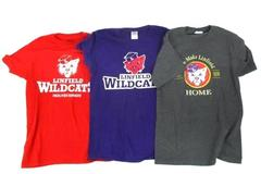 Linfield College Lot of 3 T-Shirts Gray Purple Red Wildcats Home Womens Size S