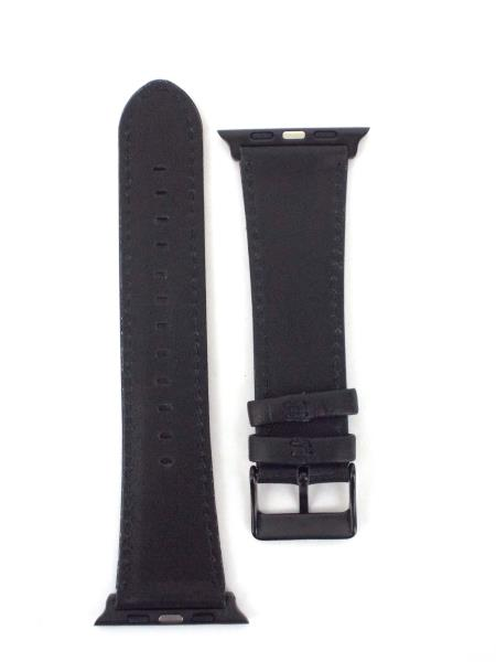 TOP4CUS Leather Replacement Band for iWatch Square Buckle Matte Black NIB