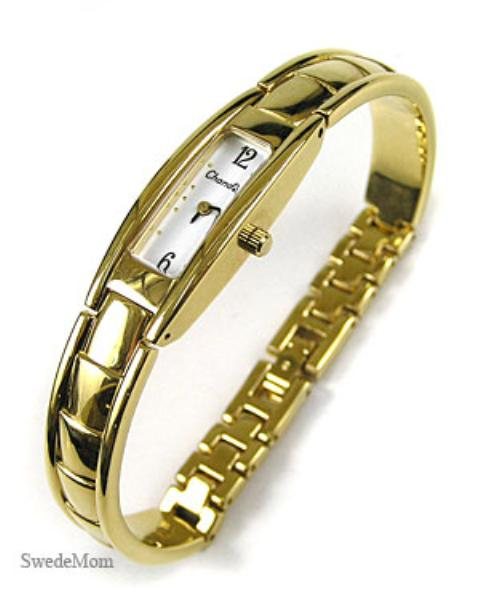 CHANDLER Swiss Ladies Gold Overlay Bracelet WATCH ~ NEW