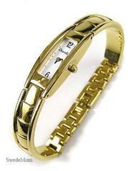 CHANDLER Swiss Ladies Gold Overlay Bracelet WATCH ~ NEW