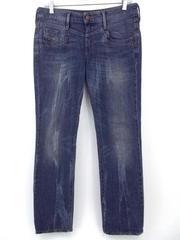 DIESEL Ronhalle 0883A Dark Wash Slim Straight Distressed Stretch Jeans 29w x 30L