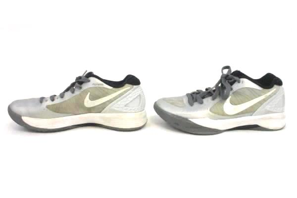 Women's Sz 8 Nike Zoom Volley Hyperspike Volleyball Shoes 585763010 White Silver
