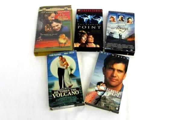 Lot of 5 VHS Movies: Fly Away From Home, Forever Young, Always