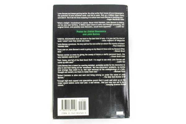 John Barnes: A Million Open Doors & Orbital Resonance Hardcover 1992