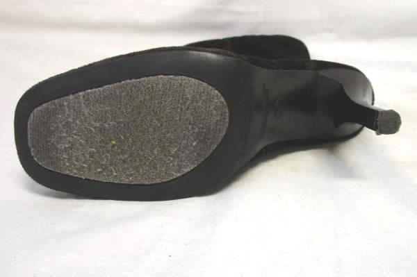 High Heel Boots Predictions Dark Brown Velvet Women's Size US 8