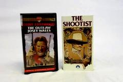 Lot of 2 VHS Movies: The Shootist The Outlaw Josey Wales
