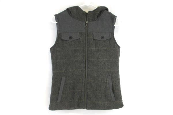 Prana Sherpa Hooded Vest Gray Women's Size XS