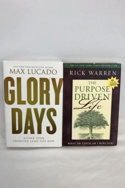 Lot of 2 Hardcover Religion Christian Life Inspirational Max Lucado Rick Warren