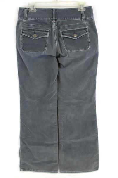 Caslon Blue Gray High Waist Trouser Corduroy Pants Women's Size 6 Straight Leg