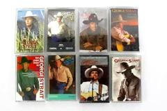Lot of 8 George Strait Albums on Cassette Tape 1986 - 1999 Country Music