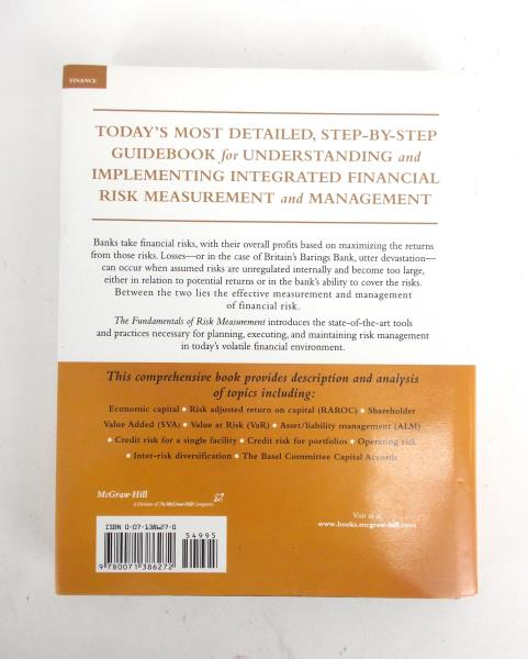 2002 HC Fundamentals Of Risk Measurement by Chris Morrison Finance investment