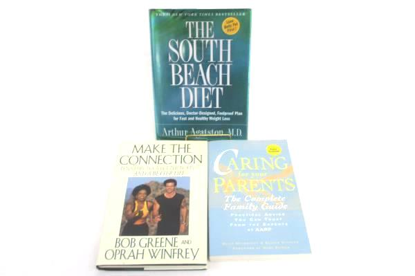 3 Health Books: South Beach Diet + Make The Connection + Caring For Your Parents