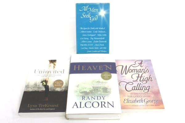 Lot of 4 Religious Books Uninvited, Heaven, A Women's High Calling, All Men Seek